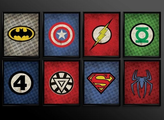 Featured Image of Superhero Wall Art