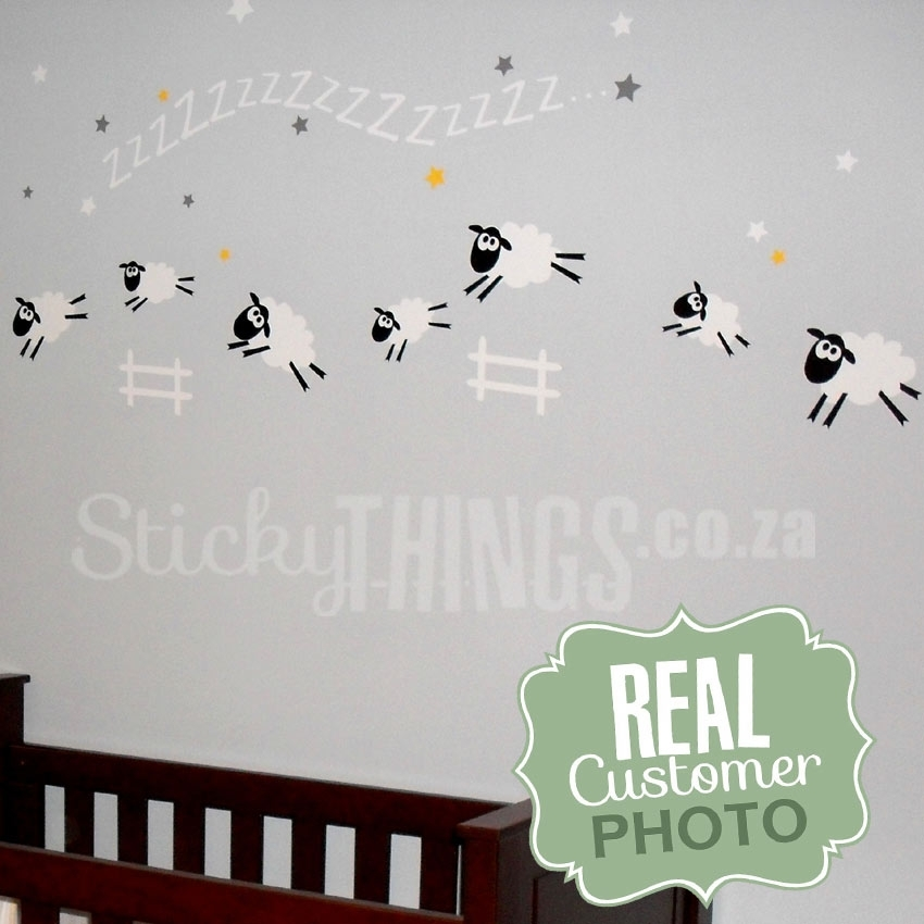 Sheep Baby Room Wall Sticker – Sheep Wall Decal – Stickythings.co (Image 19 of 20)