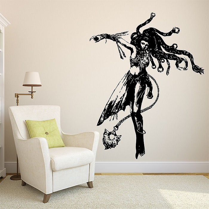 Shiva From Final Fantasy X Vinyl Wall Art Decal Throughout Vinyl Wall Art (Image 5 of 10)