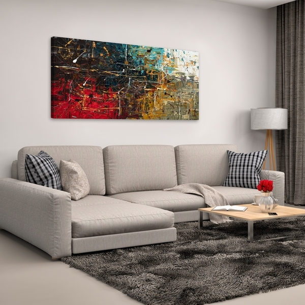 Shop Carmen Guedez 'equilibrium' Canvas Wall Art (24 X 48) – Free For Overstock Wall Art (Image 7 of 25)