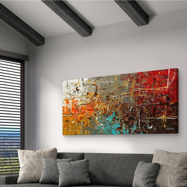 Shop Carmen Guedez 'safe And Sound' Canvas Wall Art (24 X 48) – Free With Overstock Wall Art (Image 8 of 25)