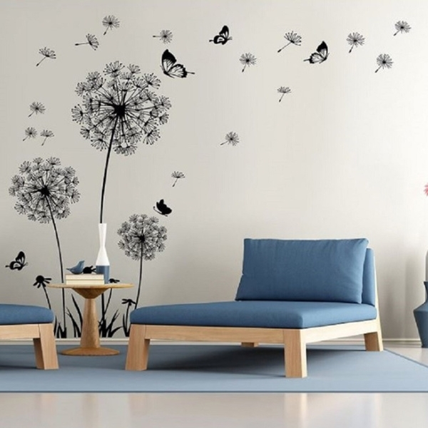 Shop Dandelion Wall Decal – Wall Stickers Dandelion Art Decor Vinyl In Dandelion Wall Art (View 4 of 25)