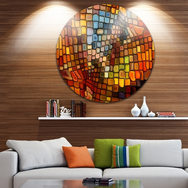 Shop Designart 'dreaming Of Stained Glass' Abstract Glossy Metal With Regard To Stained Glass Wall Art (View 3 of 25)
