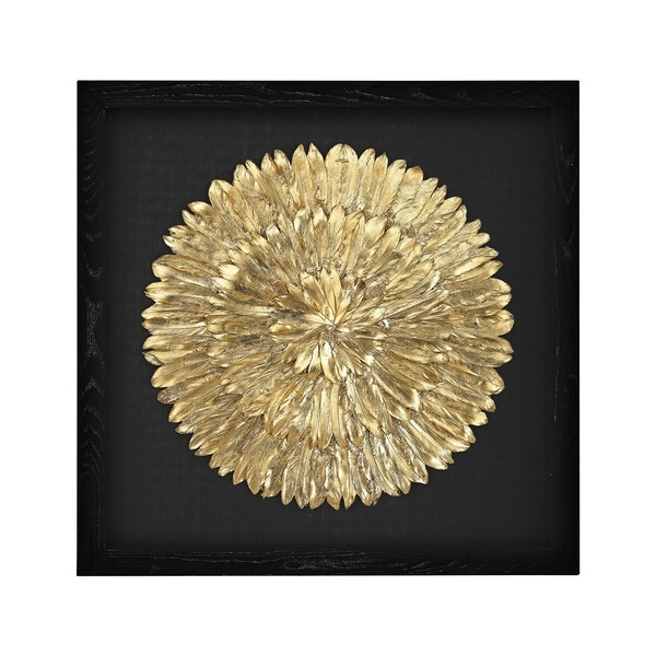 Shop Dimond Home Gold Feather Spiral Framed Wall Art – Free Shipping With Feather Wall Art (View 12 of 25)