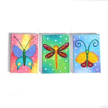 Shop Dragonfly Wall Decor On Wanelo With Regard To Dragonfly Painting Wall Art (Image 24 of 25)