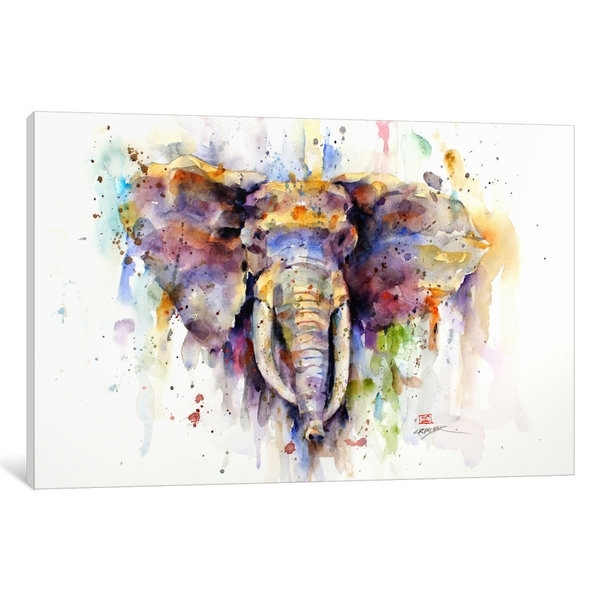 Shop Elephant Canvas Wall Art – Free Shipping Today – Overstock Inside Elephant Canvas Wall Art (View 9 of 20)