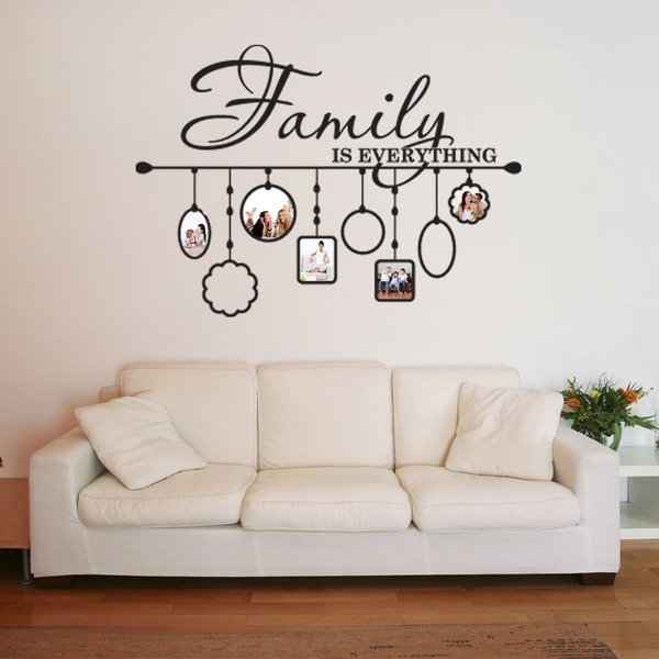 Shop Family Picture Frame Deco Vinyl Wall Art – Free Shipping Today Within Vinyl Wall Art (Image 6 of 10)