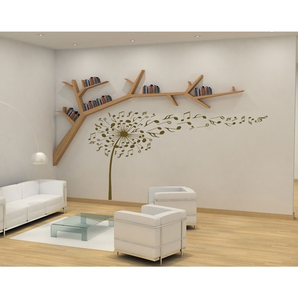 Shop Flower Dandelion Wall Art Sticker Decal Brown – Ships To Canada Inside Dandelion Wall Art (View 12 of 25)