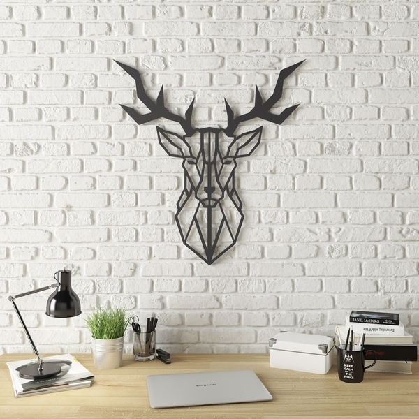 Shop Geo Deer Modern Metal Wall Art – Free Shipping Today Throughout Modern Metal Wall Art (View 5 of 20)