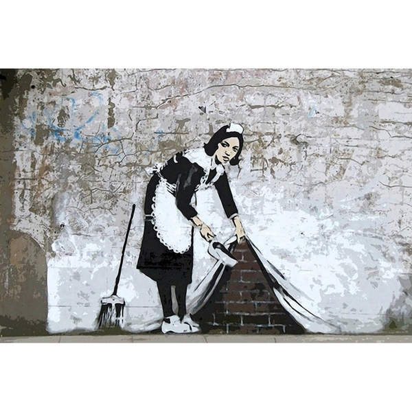 Shop Icanvas Banksy 'maid In London' Canvas Print Wall Art – On Sale Throughout London Wall Art (View 17 of 25)