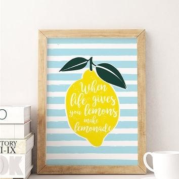 Shop Lemon Kitchen Decor On Wanelo With Lemon Wall Art (View 12 of 20)