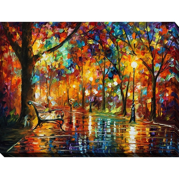 Shop Leonid Afremov 'colorful Night' Giclee Print Canvas Wall Art Regarding Colorful Wall Art (Image 18 of 20)