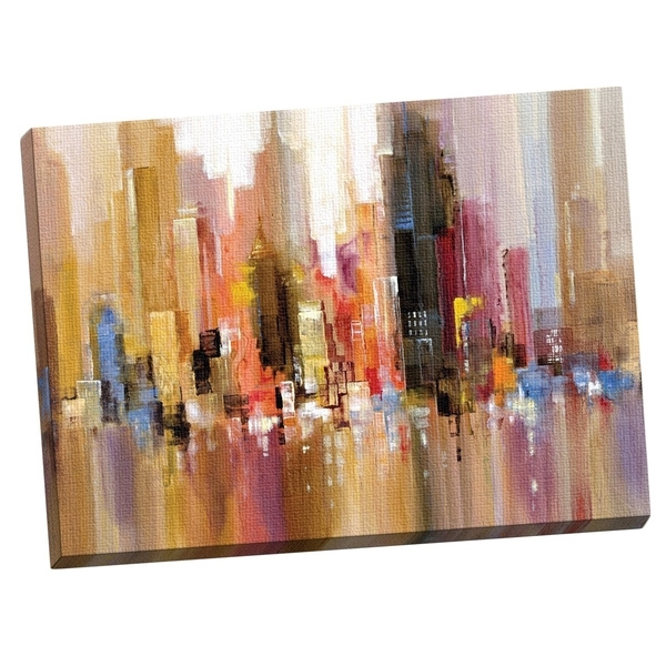 Shop Portfolio Canvas Decor 'city Spree' Large Printed Canvas Wall Intended For Overstock Wall Art (Image 14 of 25)