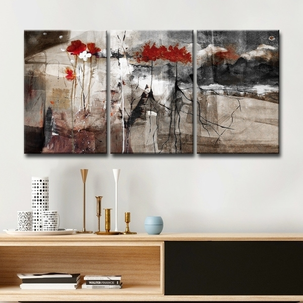 Shop Ready2Hangart 'abstract' Multi Panel Canvas Wall Art – Grey Intended For Panel Wall Art (Image 20 of 25)