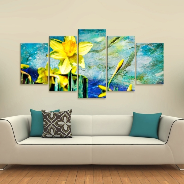 Shop Ready2Hangart 'painted Petals Vii' 5 Piece Canvas Wall Art Within 5 Piece Canvas Wall Art (View 16 of 25)