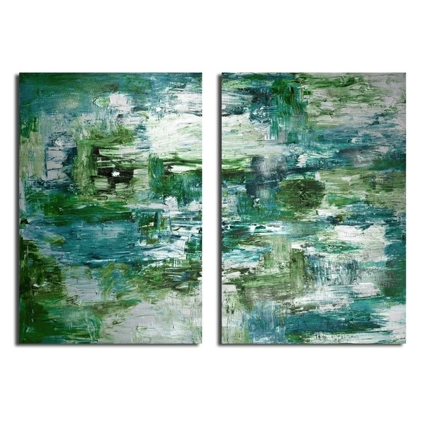 Shop Ready2Hangart 'smash X' 2 Piece Oversized Canvas Wall Art – On For Oversized Teal Canvas Wall Art (View 14 of 25)