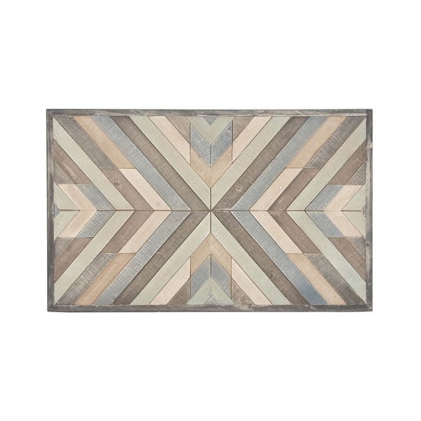 Shop Rustic Wood Framed Chevron Wall Art – Free Shipping Today With Regard To Chevron Wall Art (View 6 of 25)
