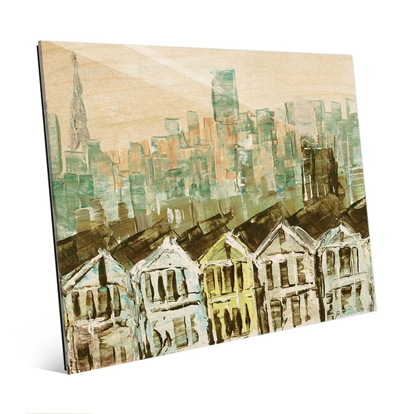 Shop San Francisco Streets Wall Art Print On Glass – On Sale – Free Pertaining To San Francisco Wall Art (View 22 of 25)