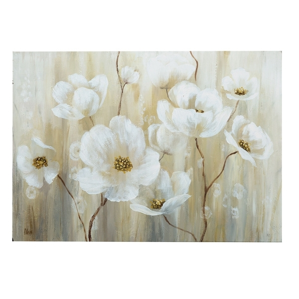 Shop Shimmering Blossoms Canvas Wall Art – Free Shipping Today Intended For Overstock Wall Art (View 22 of 25)