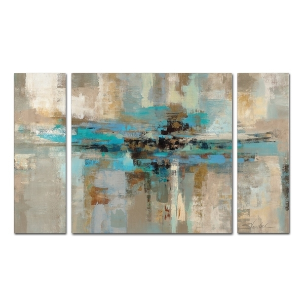 Shop Silvia Vassileva Morning Fjord 3 Piece Canvas Wall Art Set Within Overstock Wall Art (Image 19 of 25)