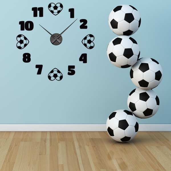 Shop Soccer Wall Clock Vinyl Decor Wall Art – Free Shipping Today In Soccer Wall Art (View 13 of 25)