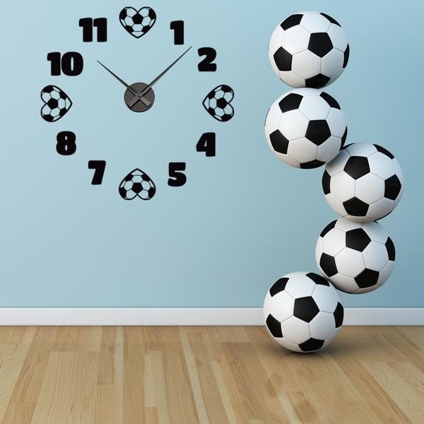 Shop Soccer Wall Clock Vinyl Decor Wall Art – Free Shipping Today In Soccer Wall Art (Image 11 of 25)