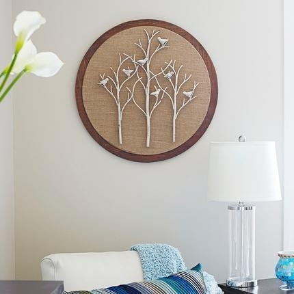 Shop 'tree And Bird' Round Wall Art – On Sale – Free Shipping Today Within Round Wall Art (View 16 of 25)