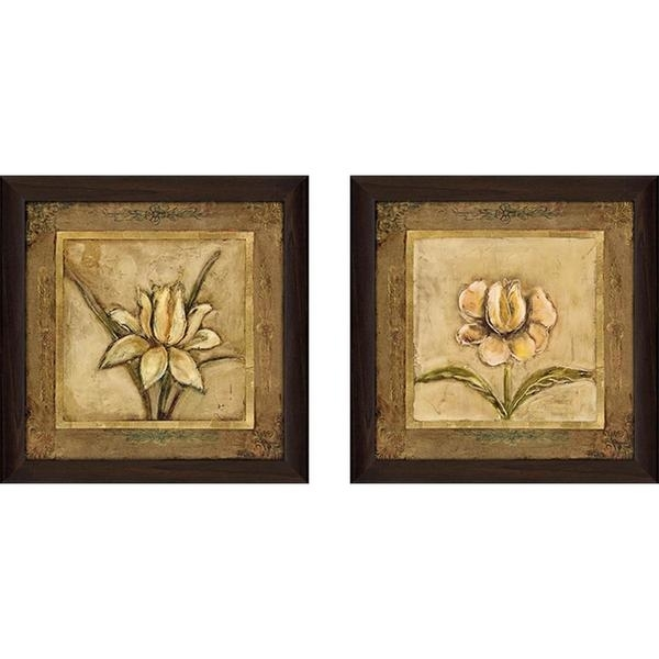 """Shop """"tulip Bronze"""" Wall Art Set Of 2, Matching Set – On Sale – Free For Bronze Wall Art (Image 21 of 25)"""