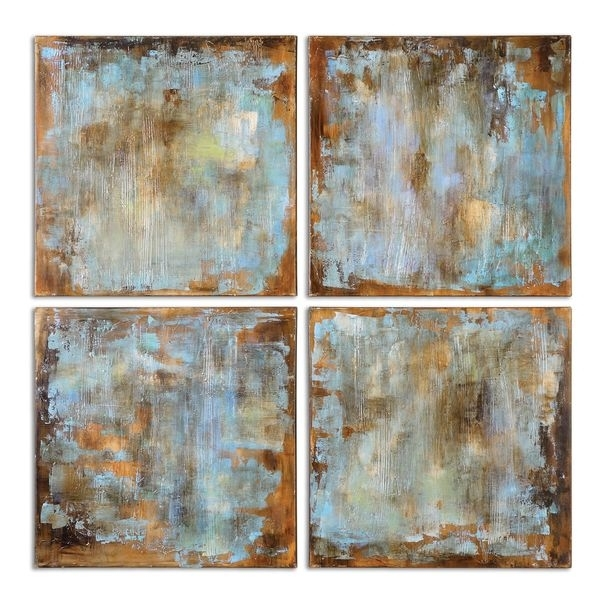Shop Uttermost Grace Feyock 'accent Tiles' Modern Hand Painted Pertaining To Tile Canvas Wall Art (Image 23 of 25)