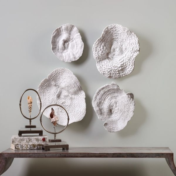 Shop Uttermost Sea Coral Wall Art (Set Of 4) – Free Shipping Today In Coral Wall Art (View 16 of 25)