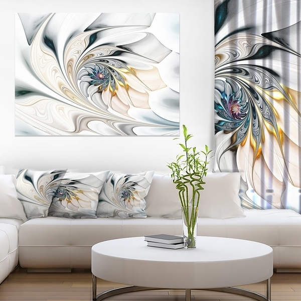 Shop White Stained Glass Floral Art – Large Floral Wall Art Canvas Within Stained Glass Wall Art (View 10 of 25)