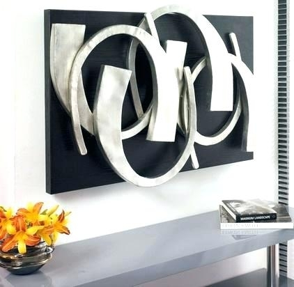 Silver Wall Art Decor Metal Art Wall Art Decor Abstract Contemporary With Contemporary Wall Art Decors (View 9 of 25)