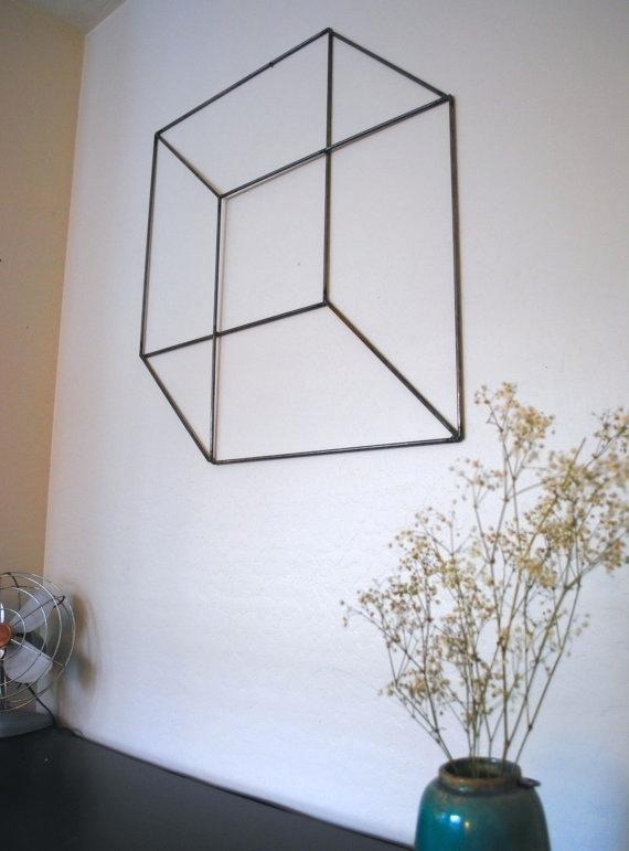 Simple Geometric Metal Wall Art Abstract – Noora (View 12 of 25)