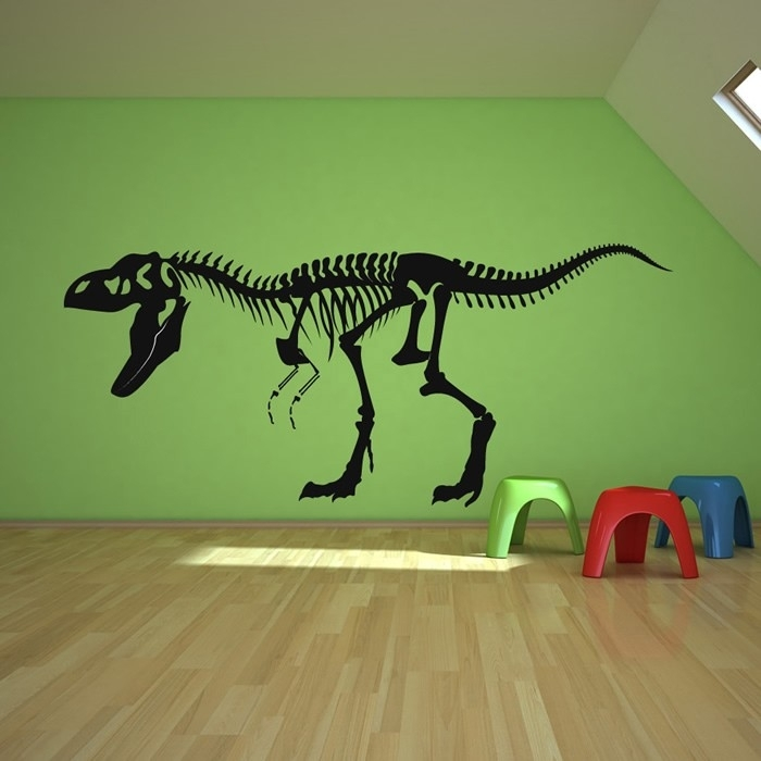 Skeleton T Rex Epic Dinosaur Wall Decal – Wall Decoration Ideas With Regard To Dinosaur Wall Art (Image 19 of 20)