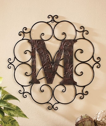 Smartness Ideas Monogram Wall Hanging Small Home Decoration Decor Pertaining To Monogram Wall Art (View 11 of 25)
