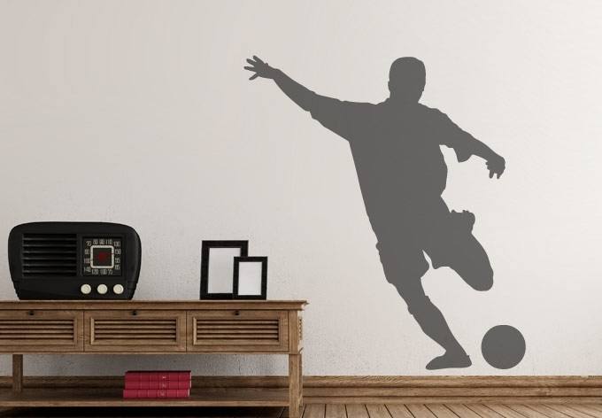 Soccer Player #2 Wall Decal – Great Sports Vinyl Decoration For Soccer Wall Art (Image 14 of 25)