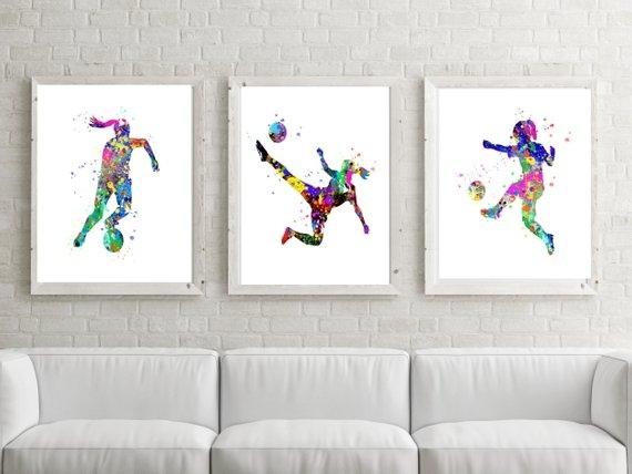Soccer Wall Art Soccer Gift Art Soccer Postersoccer | Etsy Inside Soccer Wall Art (View 3 of 25)