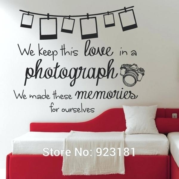 Song Lyric Wall Decals With Ed Photograph Lyrics Quote Wall Art With Song Lyric Wall Art (Image 15 of 20)