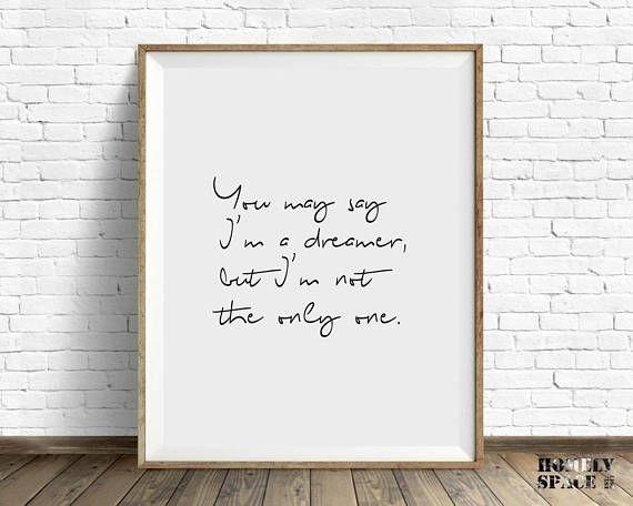 Song Lyrics Art Print Song Lyrics Print Song Lyrics Wall Art | For With Song Lyric Wall Art (View 16 of 20)