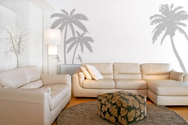 Sophisticated Palm Tree Wall Art In And Birds Set Decal With Regard To Palm Tree Wall Art (Image 21 of 25)