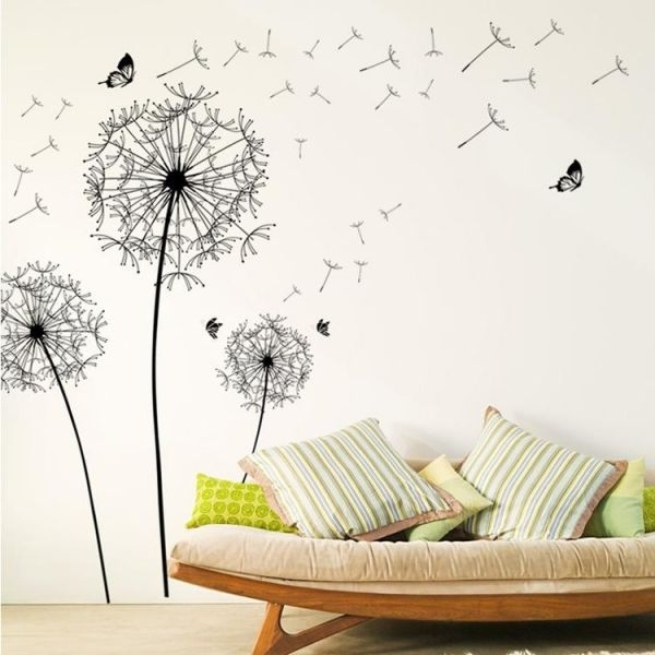 Souq | Diy Home Decor Large Dandelion Wall Sticker Art Decals Pvc Intended For Dandelion Wall Art (Image 24 of 25)