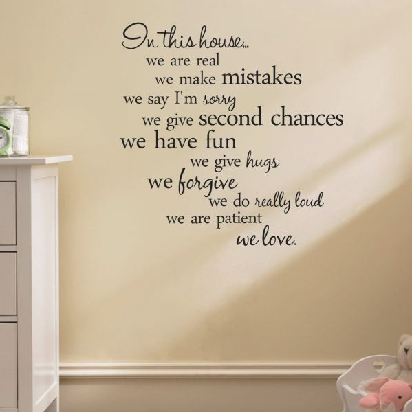 Souq | House Rules Quote Wall Stickers Home Decor Living Room Diy Within Quote Wall Art (View 14 of 25)