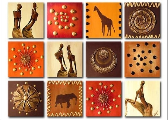 Special Tiles Canvas Wall Art – Cheap African Canvas Art With Tile Canvas Wall Art (View 11 of 25)