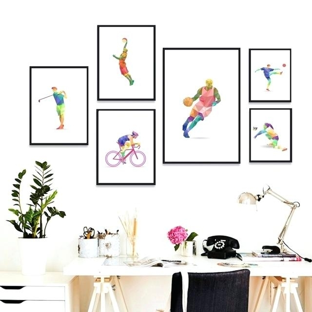 Sports Wall Art Geometry Sports Abstract Sports Ski Football With Regard To Sports Wall Art (Image 17 of 25)