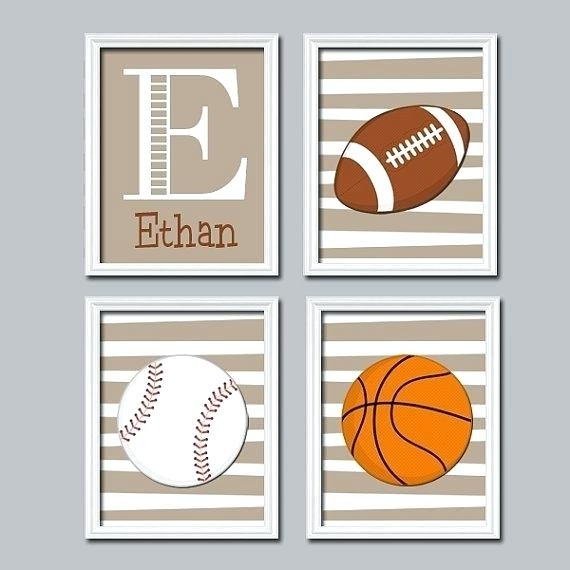 Sports Wall Art Nursery Decor Canvas Or Prints Pictures Big Boy Room Throughout Sports Wall Art (View 20 of 25)