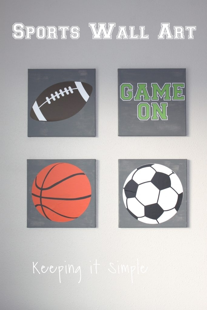 Sports Wall Art With Svg Cut File • Keeping It Simple In Sports Wall Art (Image 19 of 25)