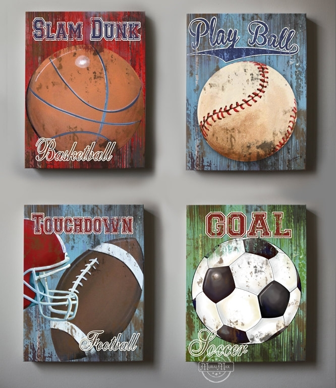 Sports Wall Decor – Talentneeds – Regarding Sports Wall Art (View 9 of 25)