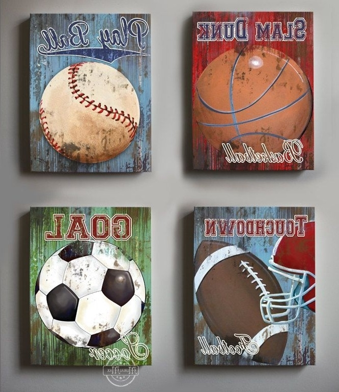 Sports Wall Decor Trend Sports Wall Decor – Wall Decoration Ideas Throughout Sports Wall Art (View 8 of 25)