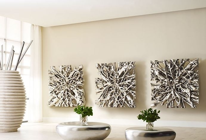 Square Root Wall Art Silver Leaf Modern Furnishings With Silver Wall Art (Image 16 of 20)