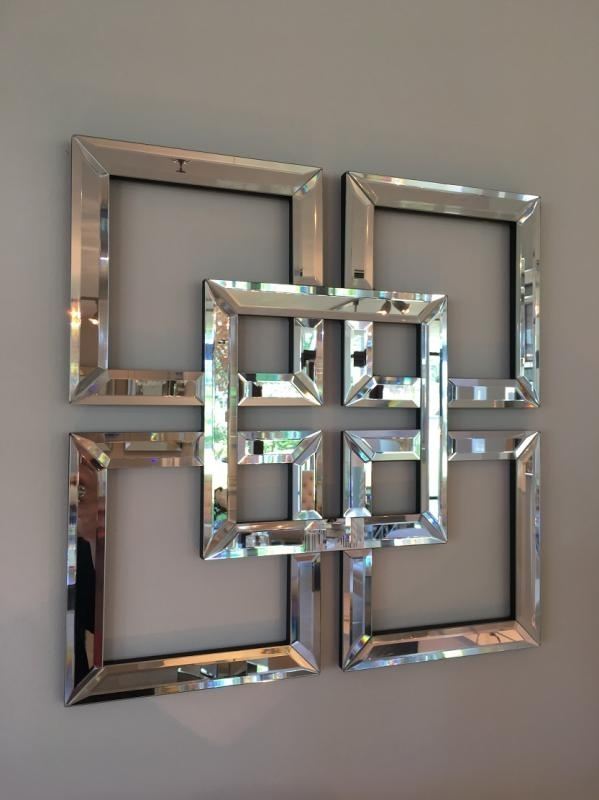 Squares Venetian Mirror Superb Mirrored Wall Art – Wall Decoration Within Mirrored Wall Art (View 8 of 20)